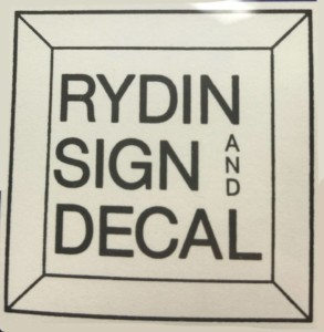 Rydin Sign and Decal
