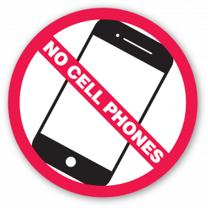 Stock No Cell Phones Decal
