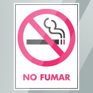 Stock No Fumar Decal Inside Window
