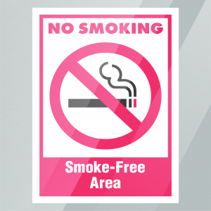 Stock No Smoking Smoke-Free Area Decal Inside Window