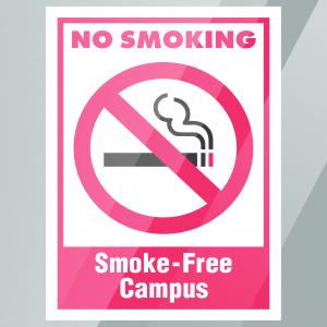 Stock No Smoking Smoke-Free Campus Decal Inside Window