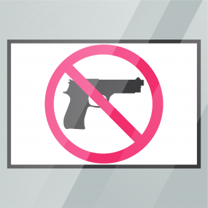 Stock No Weapons Decal Inside Window