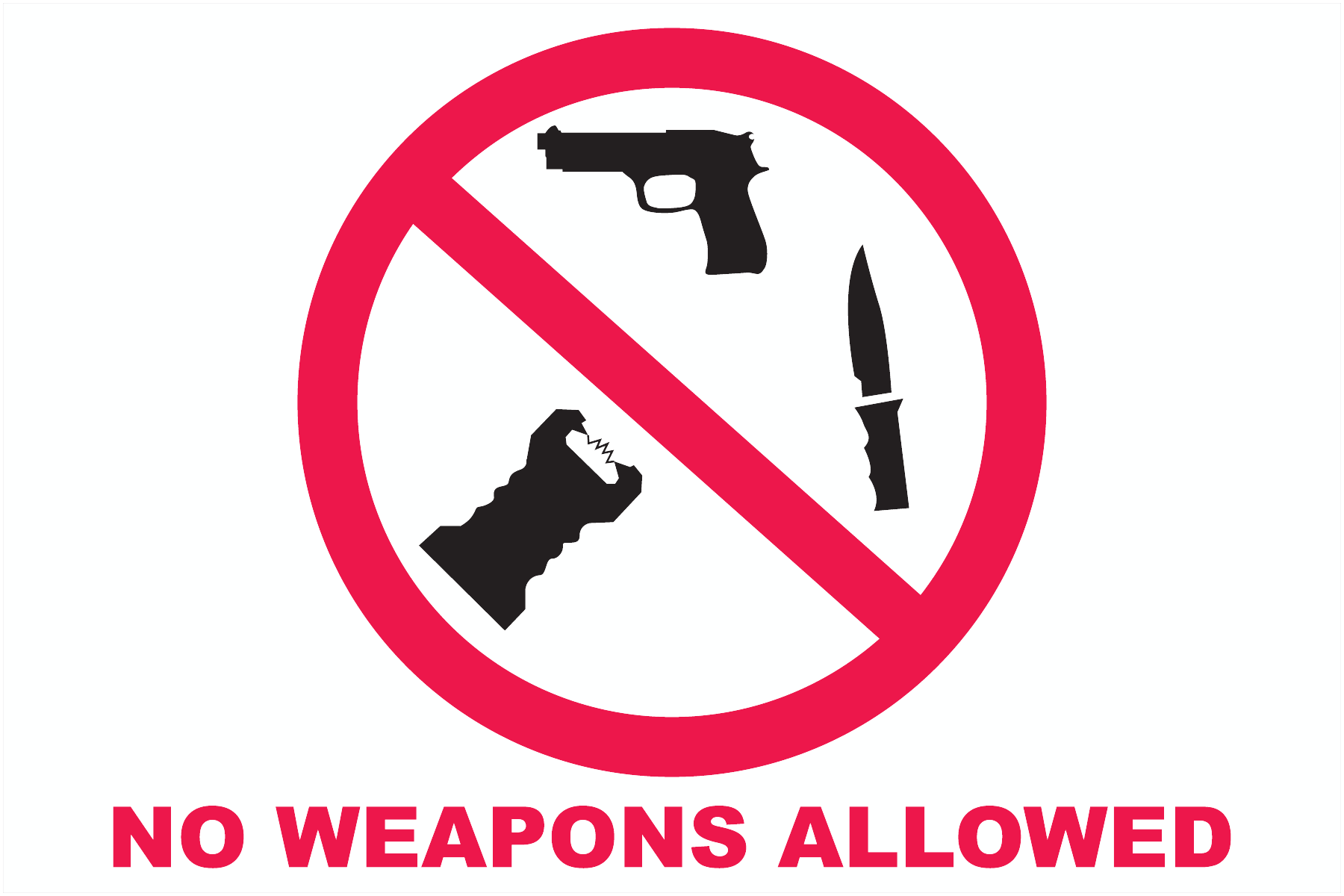 No Guns/ No Weapons Decals