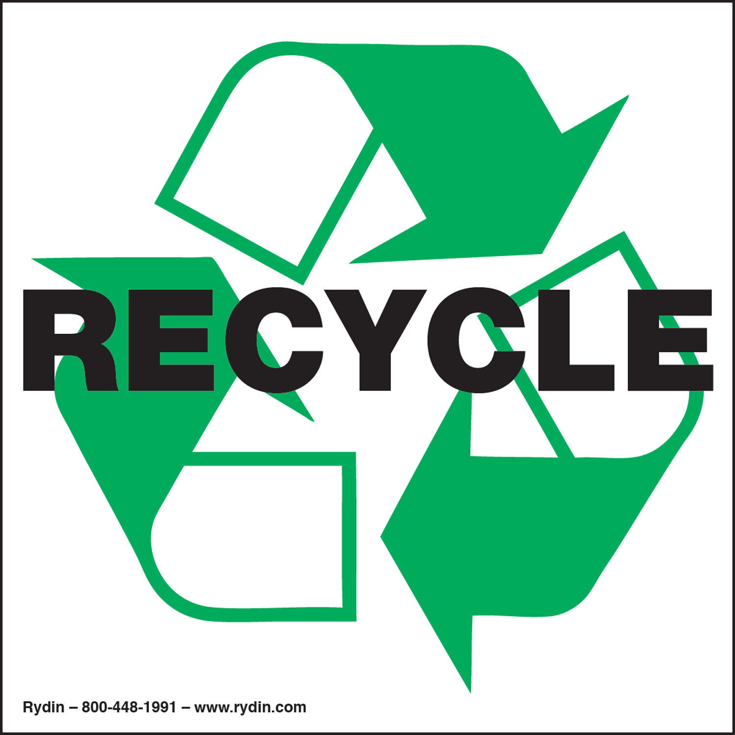 Recycling/Waste Management Decals