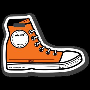 BT-04 Stock Orange Shoe Walker Backpack Tag
