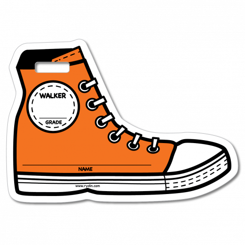 BT-04 Orange Walker Backpack Tag
