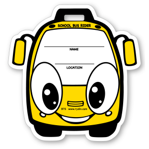 BT-05 Stock Yellow Bus Backpack Tag