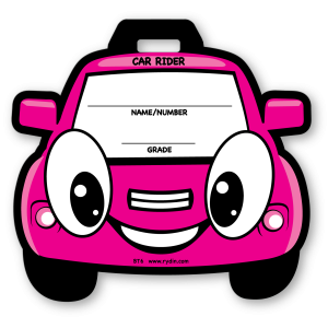 BT-06 Stock Pink Car Backpack Tag