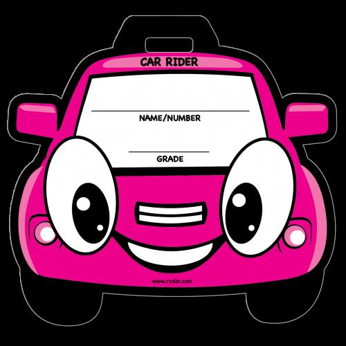 BT-06 Pink Car Backpack Tag