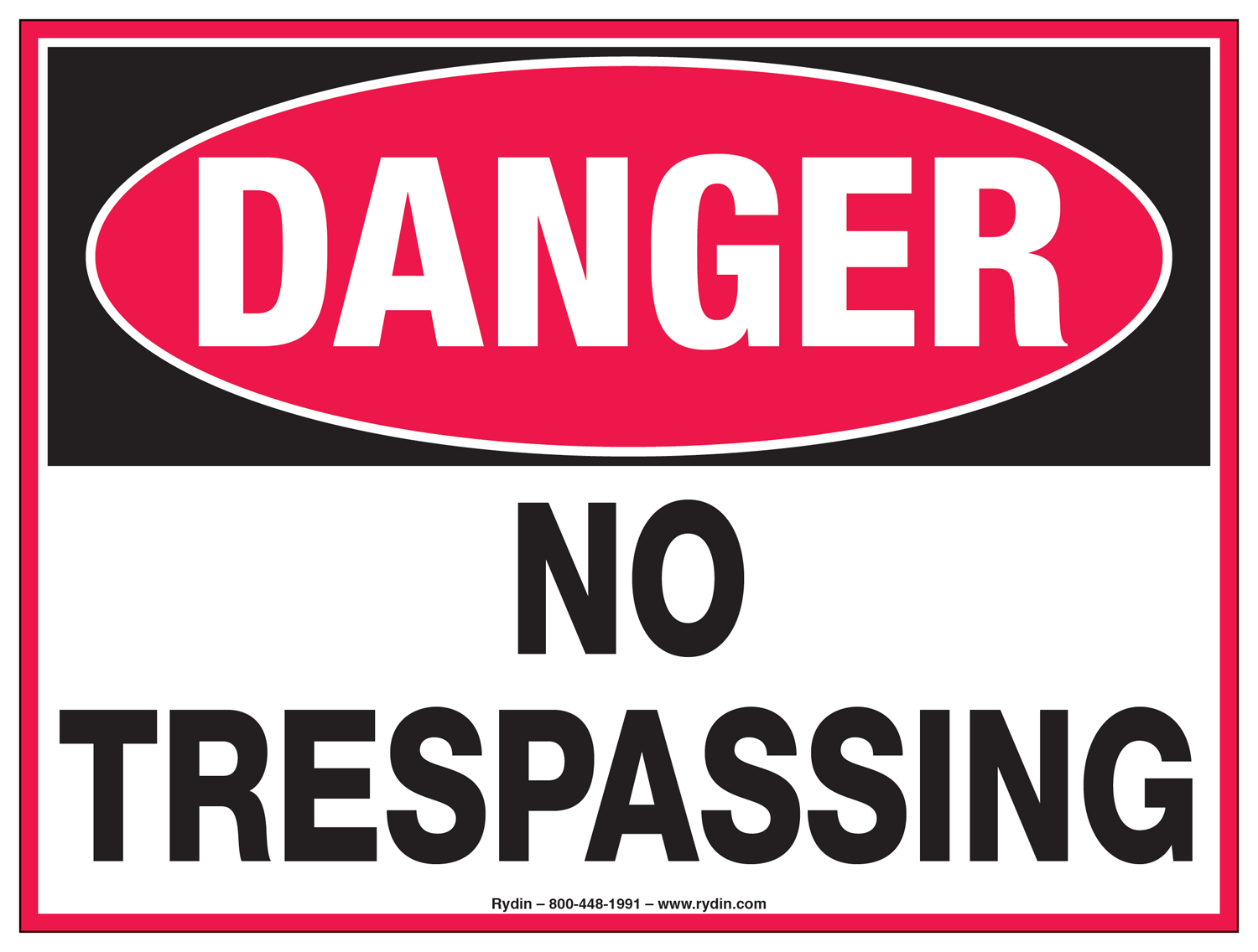 No Trespassing Decals