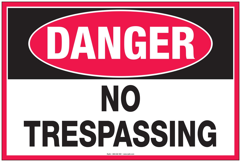 No Trespassing Decals