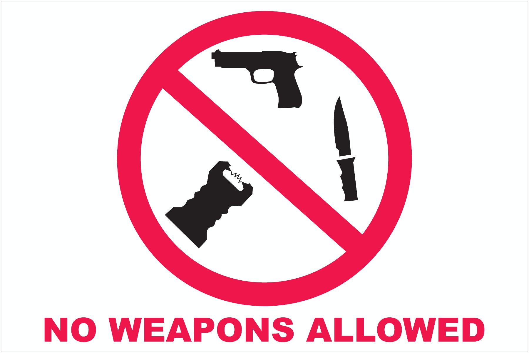 No Guns/ No Weapons Decals
