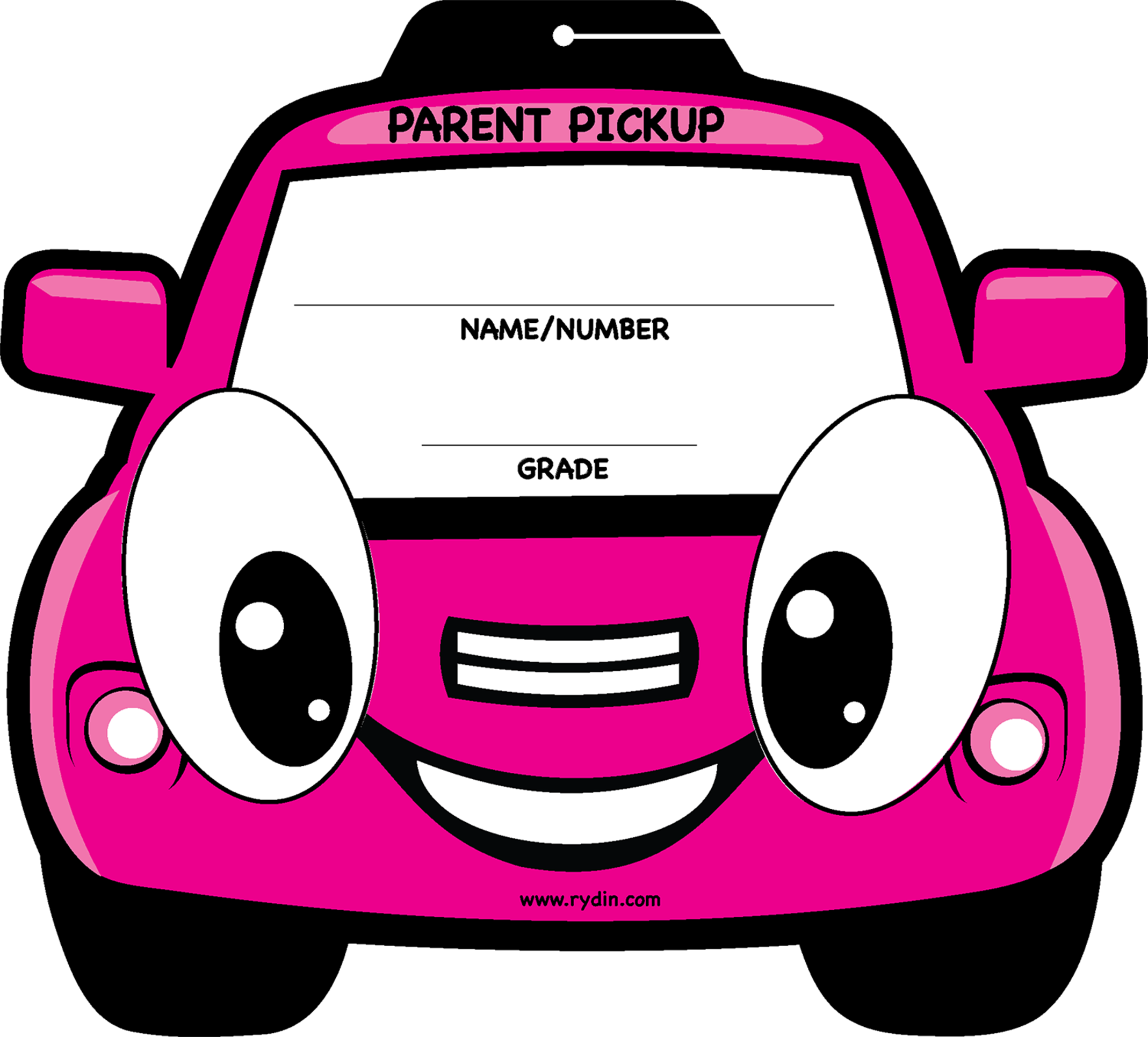 Parent Pick Up Tag Car Line Visor Sign -  signs of cars with names