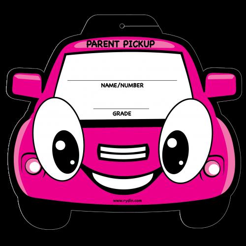 Pink Car Parent Pickup Visor