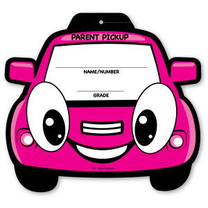 VT-01 Stock Pink Car Visor Sign