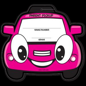Stock Pink Car Visor Sign