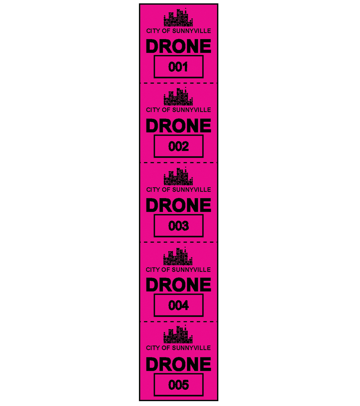 Drone Permit Decals
