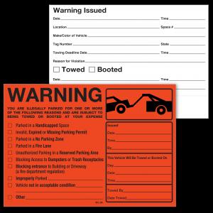 Stock Orange Warning Label