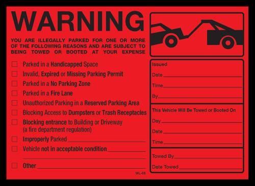 WL-05 Warning 7x5