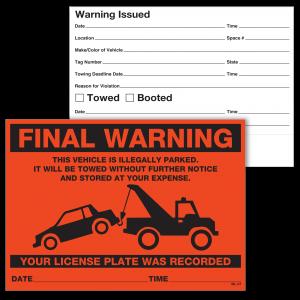 Stock Orange Final Warning Label