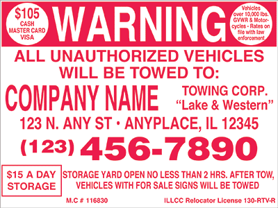 Tow Signs