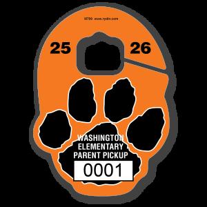 M-709 Paw Print Mascot Hang Tag
