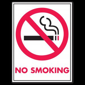 Stock No Smoking Decal