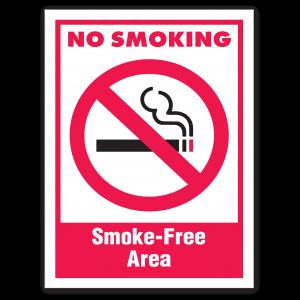 Stock No Smoking Smoke-Free Area Decal