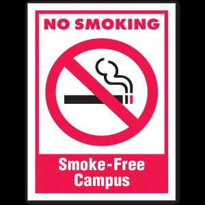 Stock No Smoking Smoke-Free Campus Decal