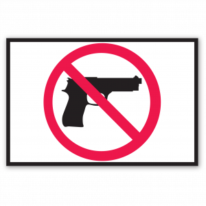 Stock No Weapons Decal
