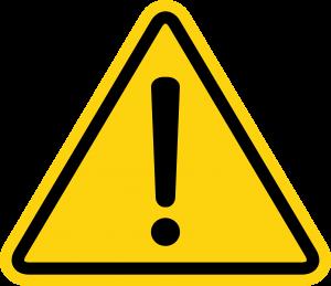Warning security alert