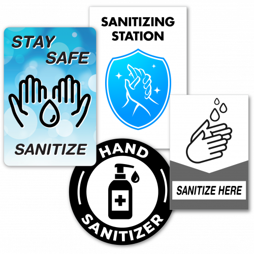 Sanitizing station decals