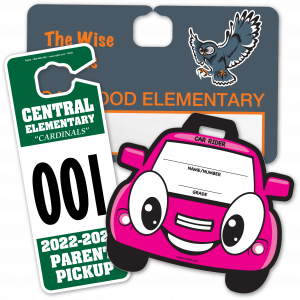 Parent Pickup and Backpack Tags